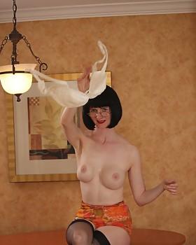 Vintage panty tease by Julia the Seductive Teacher