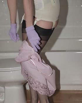 Wet slip, wet stocking slut that's Julia
